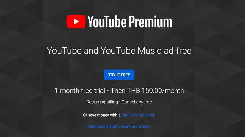 """เปิดให้บริการในประเทศไทยแล้ว  """"YouTube Premium"""" ฟังเพลง ดูวีดีโอไม่สะดุด"""