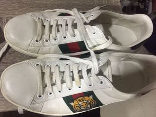 Gucci White Ace Tiger Sneakers
