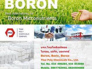 โบรอน, Boron, บอริกแอซิด, Boric acid, บอแรกซ์ 5น้ำ, บอแรกซ์