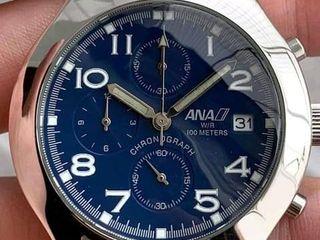 นาฬิกาข้อมือจากสายการบิน ANA CHRONOGRAPH ALL STAINLESS STEEL