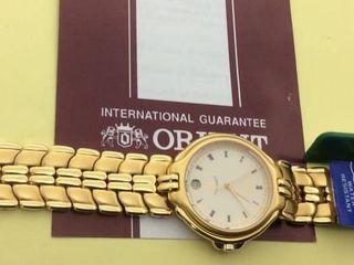 นาฬิกาข้อมือสตรี โอเรียนท์ทอง