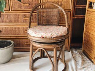 เก้าอี้หมุนหวายสายวินเทจ