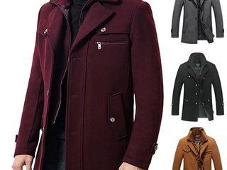 T Rench Coat สำหรับผู้ชายเสื้อขนสัตว์กันหนาว