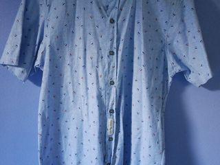 เสื้อคอจีนสีฟ้า