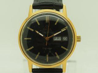 Omega 1970 s Cal.1022 Day/Date Black Dial Swiss 35mm Mens Wa