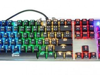 คีย์บอร์ดเกมมิ่ง OKER รุ่น K84 RGB Mechanical Keyboard Blue