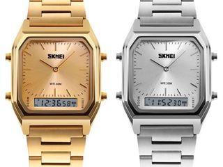 นาฬิกาสองระบบ รุ่น SK1220 สีเงินและทอง
