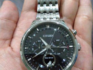 Citizen Eco-Drive Moon Phase Full Calendar (Black dial)