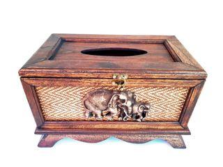 กล่องทิชชู่ช้าง ชิ้นงานไม้