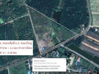 ขายที่ดิน 20ไร่ ไร่ละ 1.5 ล้านบาท บ้านหนองเสือช้าง หนองใหญ่