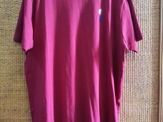 เสื้อยืดผู้ชาย Polo Ralph Lauren ของแท้ size L สีแดงเลือดหมู