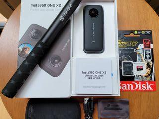 ขายกล้อง INSTA360 ONE X2 มือสอง สภาพเหมือนใหม่ พร้อมของแถม
