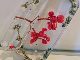 ที่วางโทรศัพท์ งานเรซิ่นดอกไม้แห้ง Handmade ละเอียดทุกชิ้น